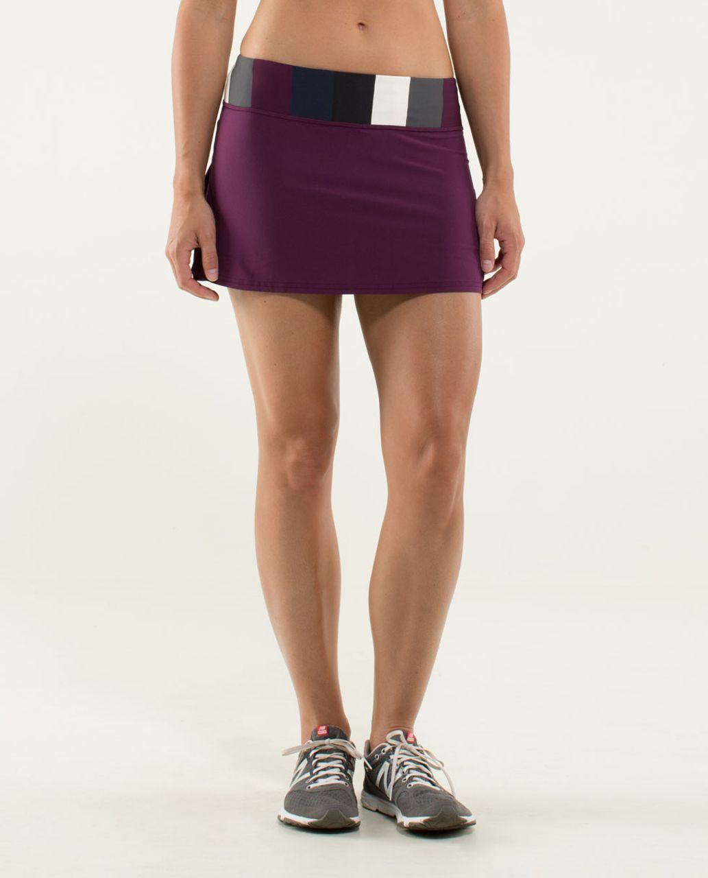 Lululemon Run:  Pace Setter Skirt (Regular) - Plum / Pow Stripe Angel Wing