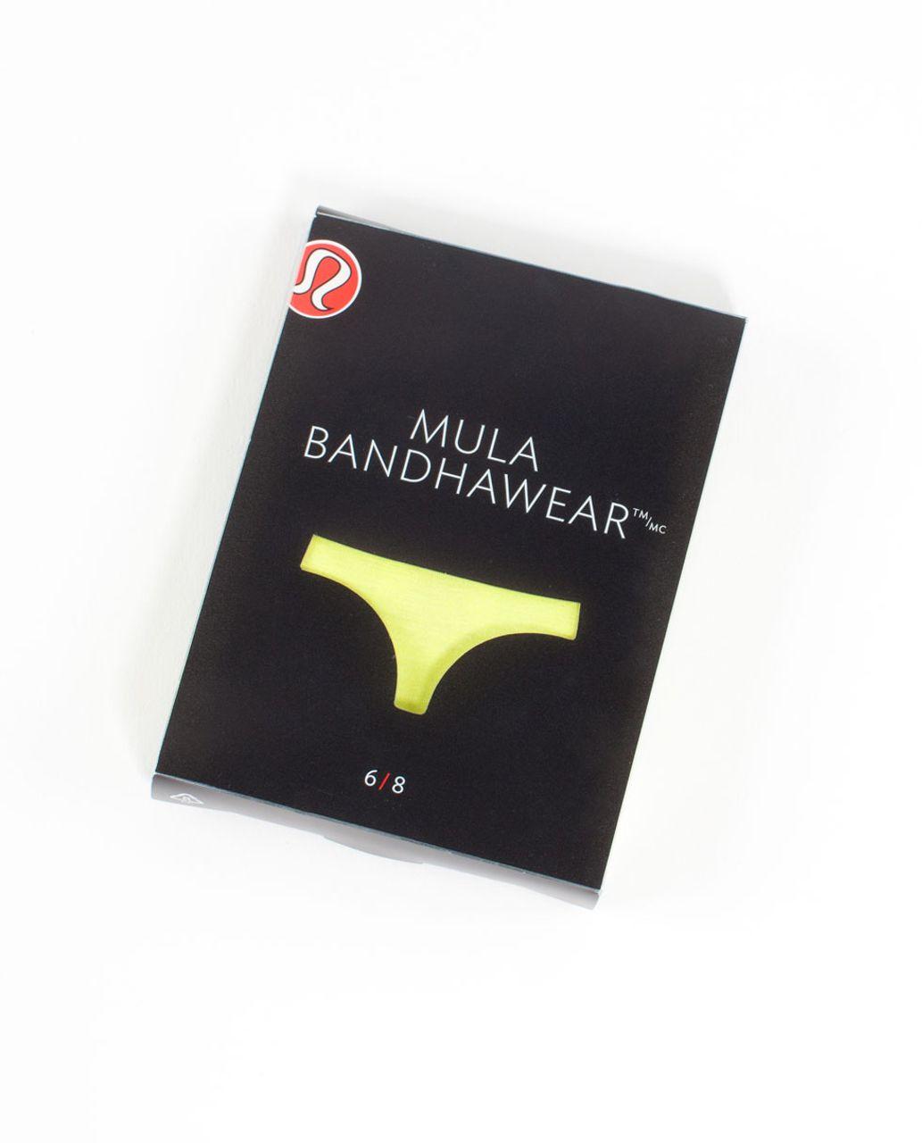 Lululemon Mula Bandhawear Thong - Split Pea