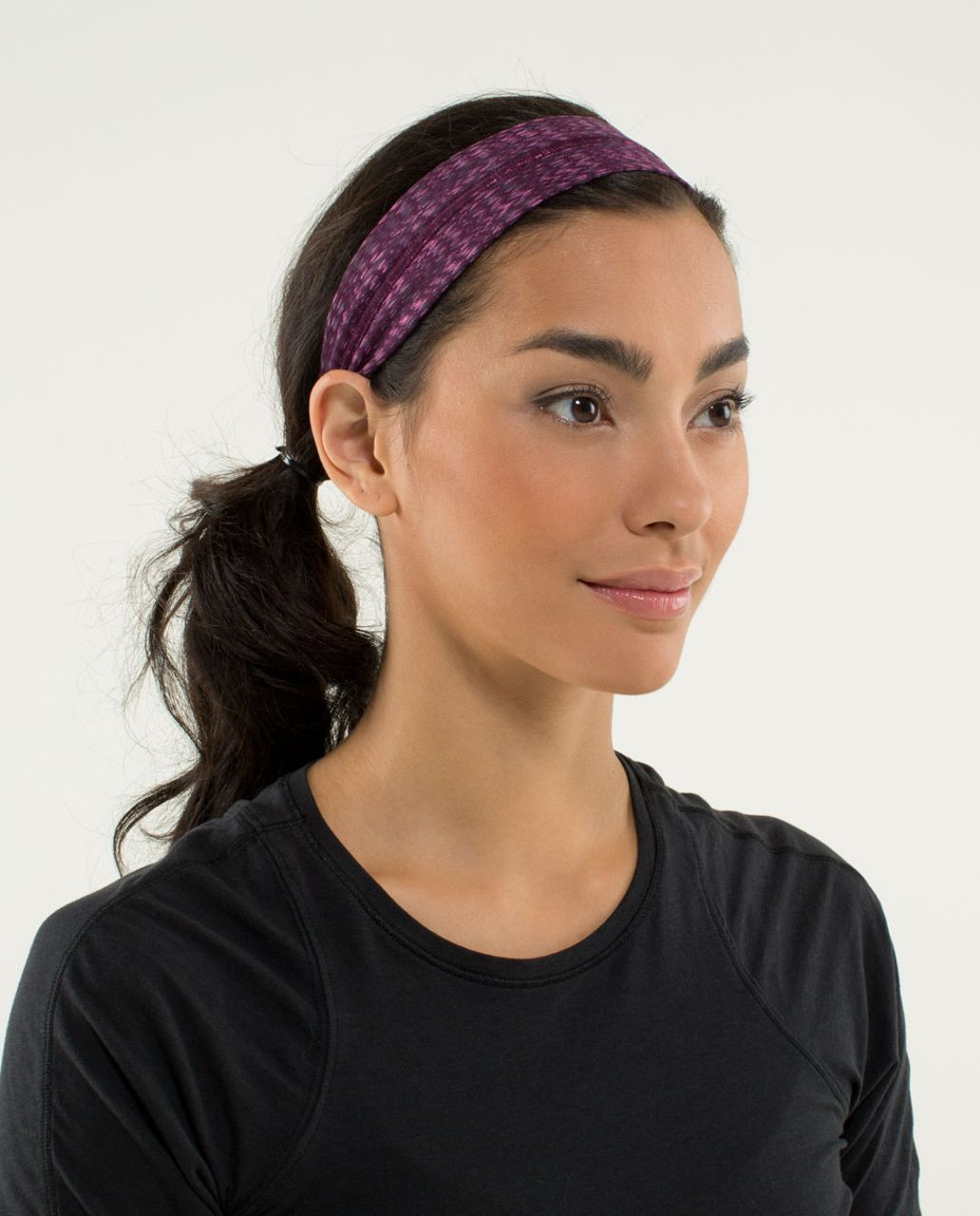 Lululemon Fly Away Tamer Headband - Ziggy Wee August Glo