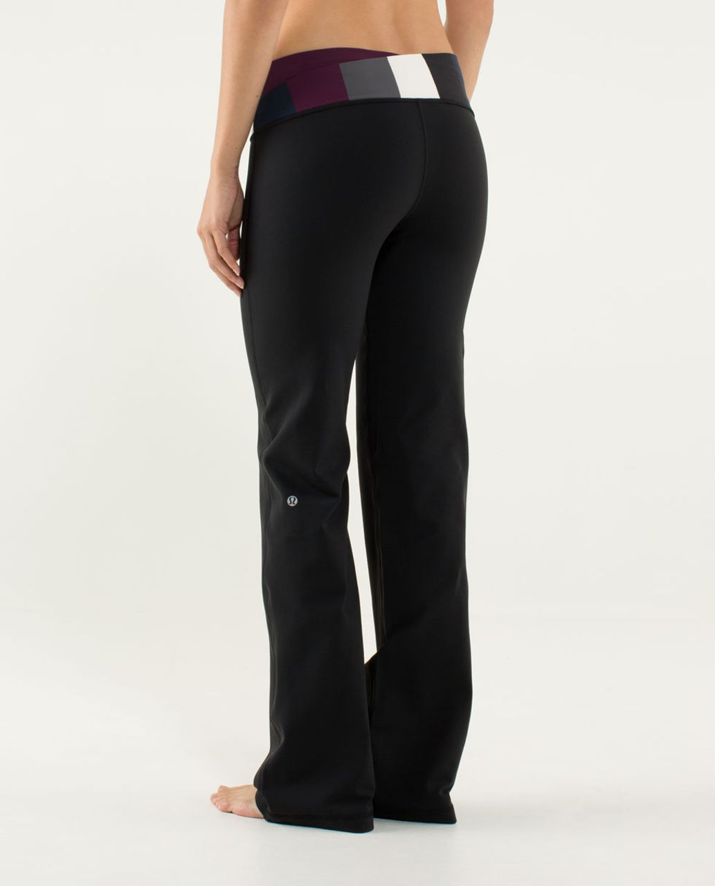Lululemon Astro Pant (Regular) - Black / Plum / Pow Stripe Angel Wing