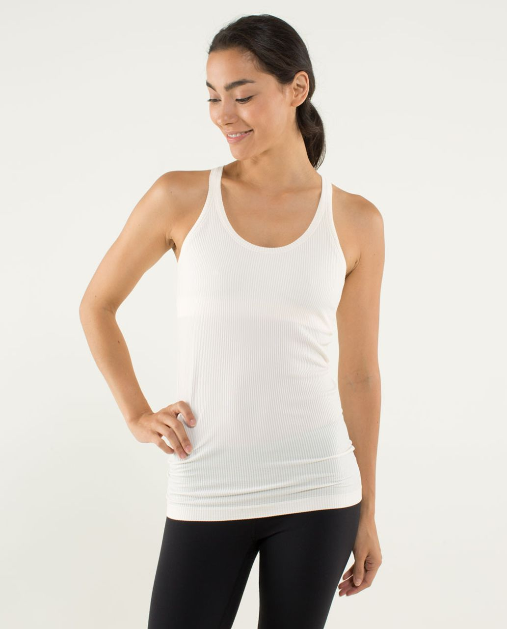 Lululemon Ebb To Street Tank - Heathered Angel Wing