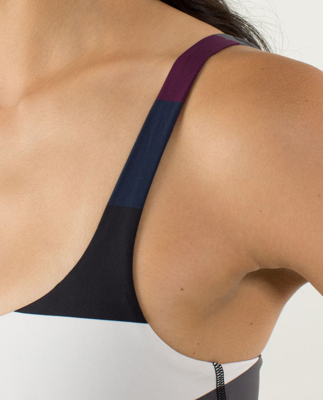 Lululemon Free To Be Bra - Pow Stripe Angel Wing / Plum