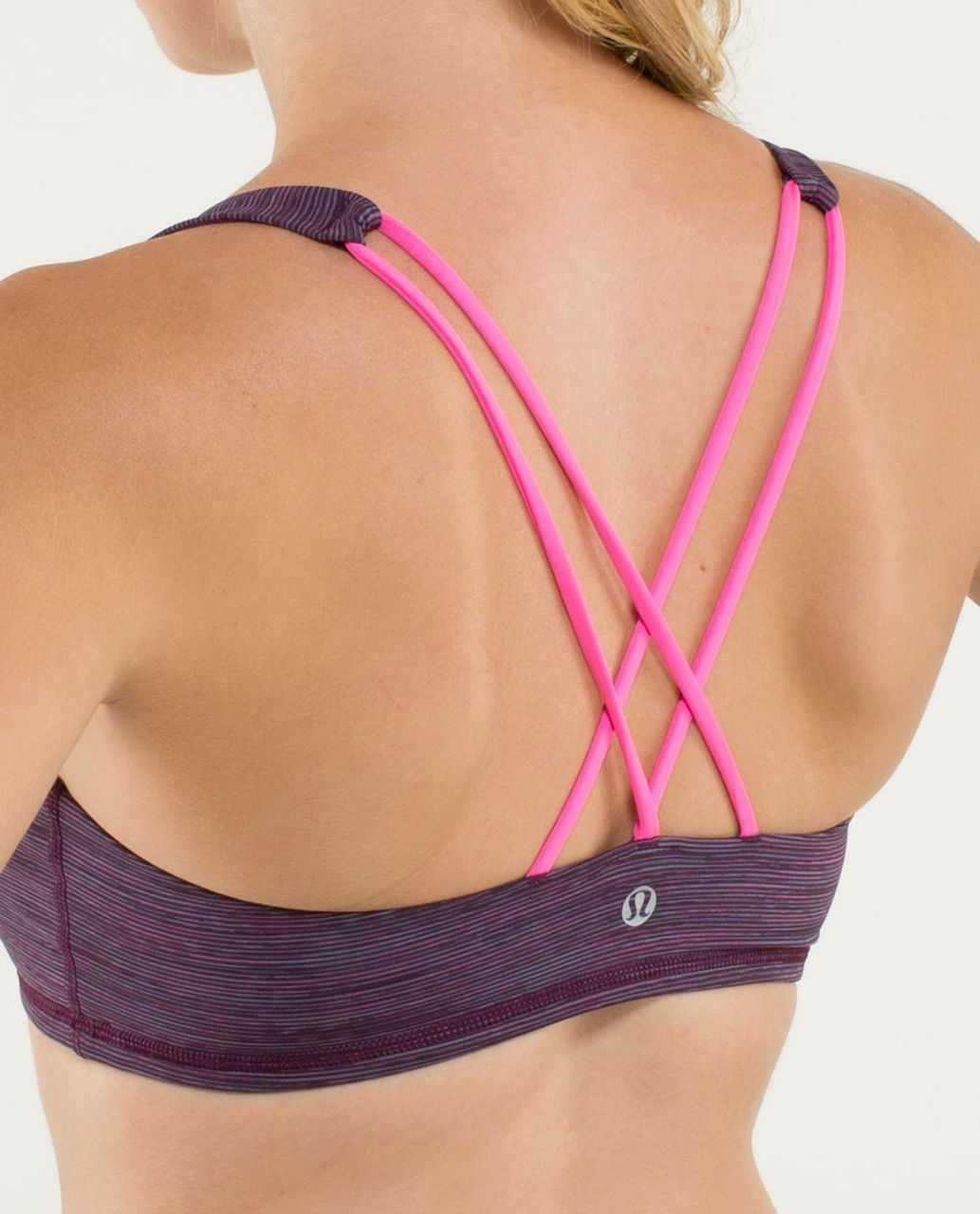Lululemon Free To Be Bra - Wee Are From Space September Plum / Raspberry Glo Light