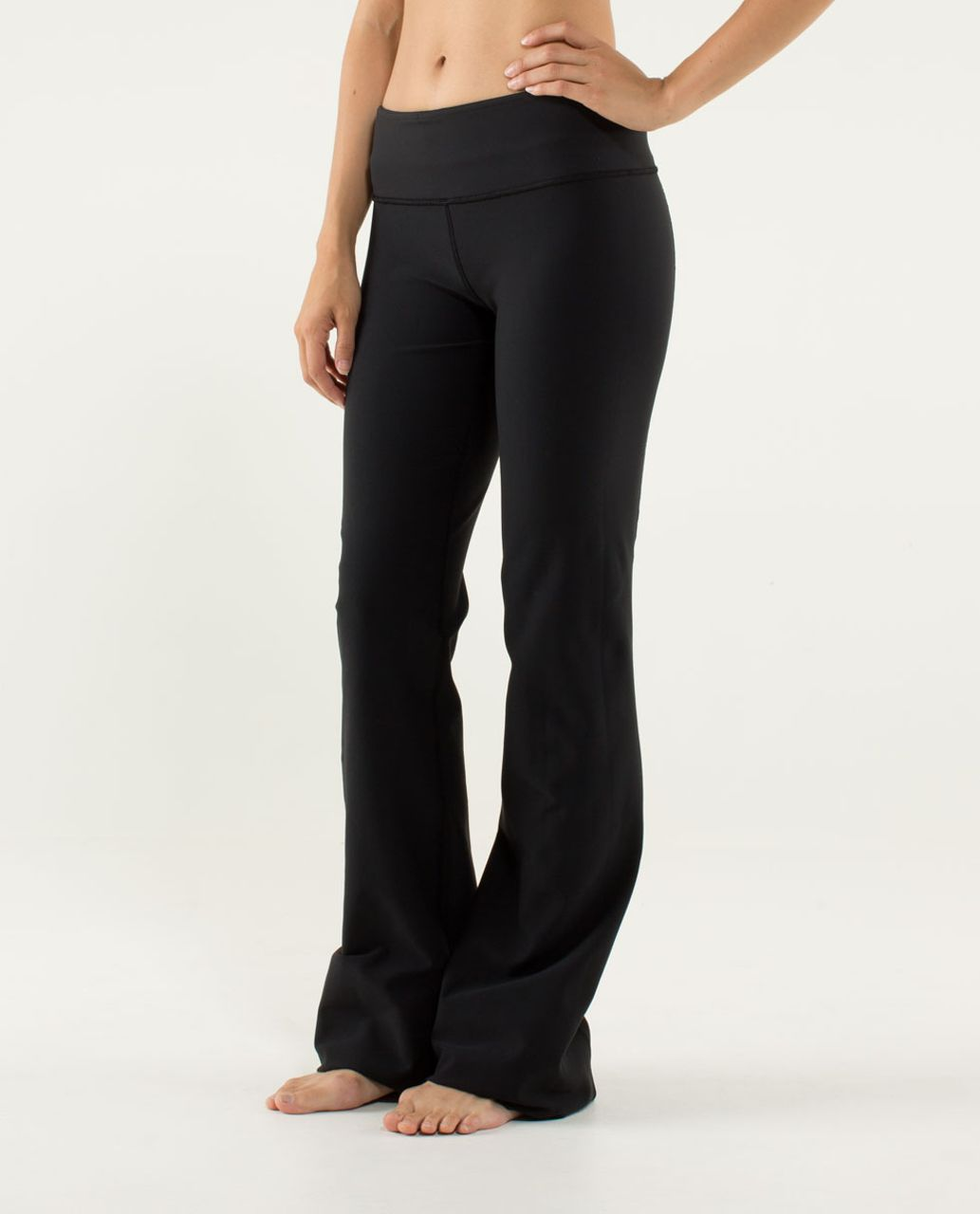 Lululemon Groove Pant (Regular) - Black / Ziggy Wee September Black / Hyper Stripe Angel Wing