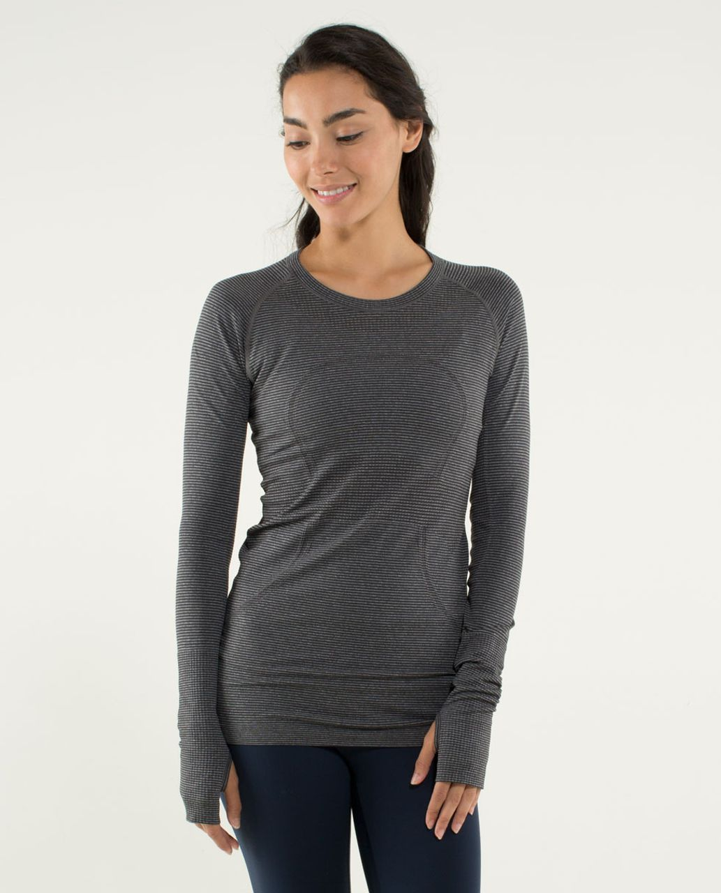 2f41f80a477ba Lululemon Run  Swiftly Tech Long Sleeve - Heathered Soot - lulu fanatics