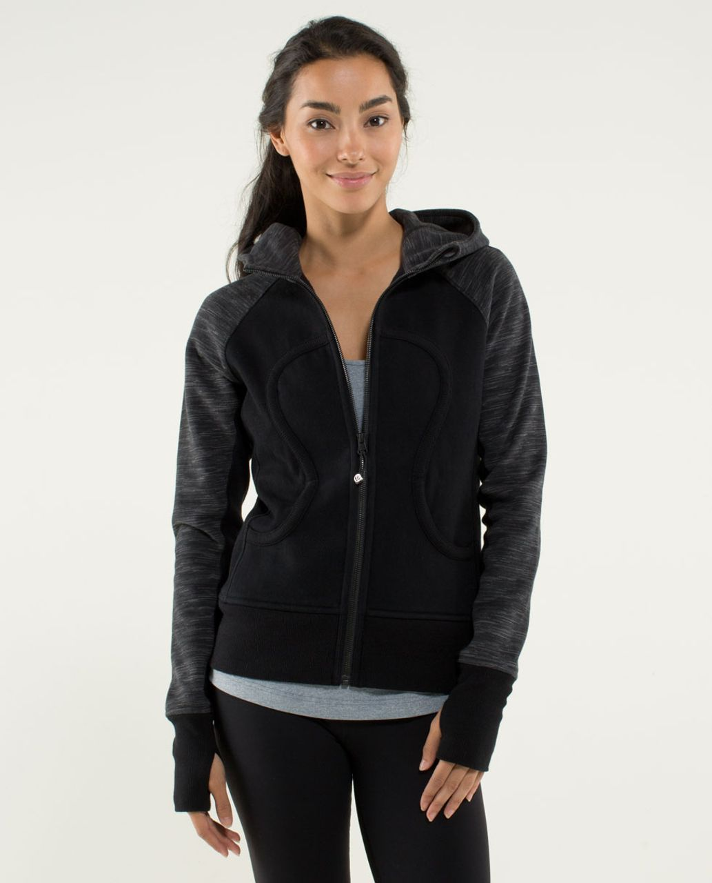Lululemon Scuba Hoodie *Stretch (Lined Hood) - Black / Wee Are From Space Printed September Black