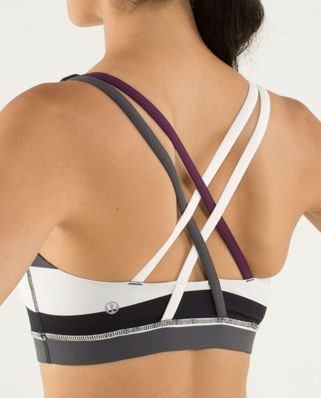 Lululemon Energy Bra - Pow Stripe Angel Wing / Soot Light / Plum