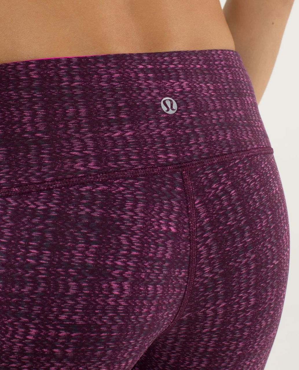 Lululemon Wunder Under Pant *Textured - Ziggy Wee August Glo / Raspberry Glo Light