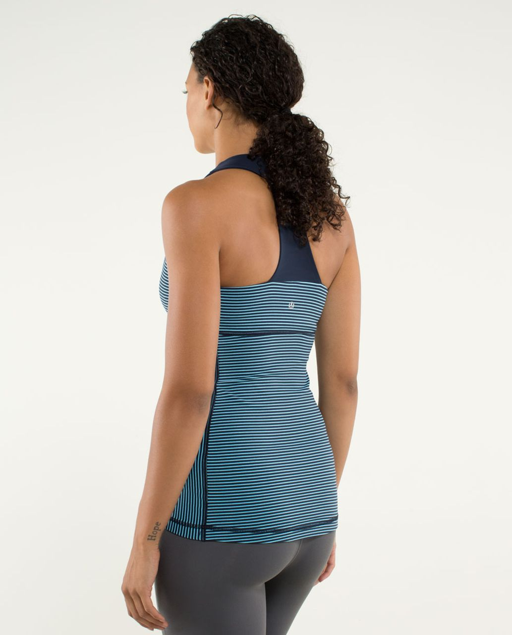 Lululemon Scoop Neck Tank *Luon Light - Hyper Stripe Blue Moon / Inkwell