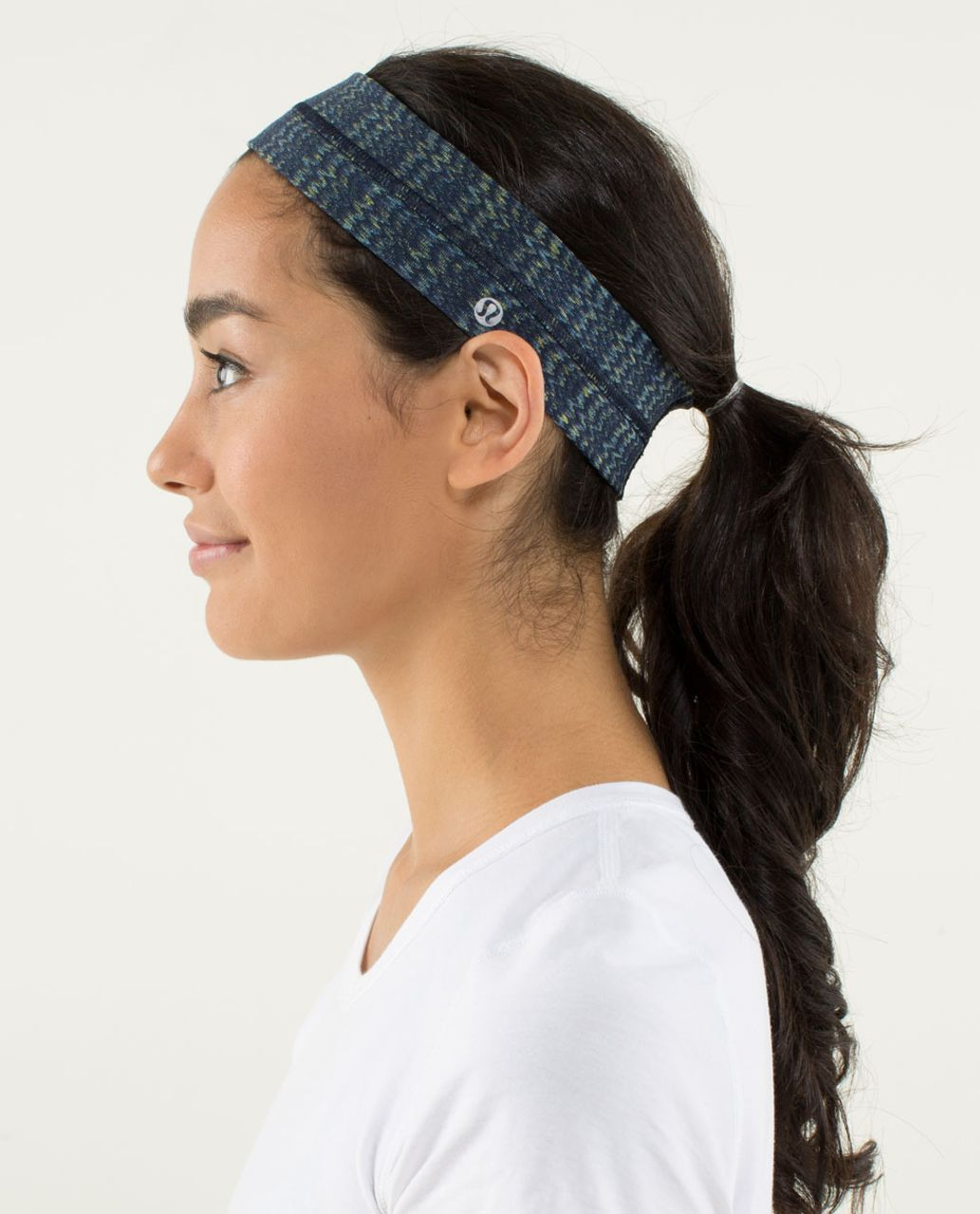 Lululemon Fly Away Tamer Headband - Ziggy Wee August Inkwell