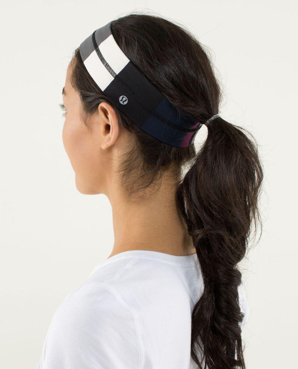 Lululemon Fly Away Tamer Headband - Pow Stripe Angel Wing
