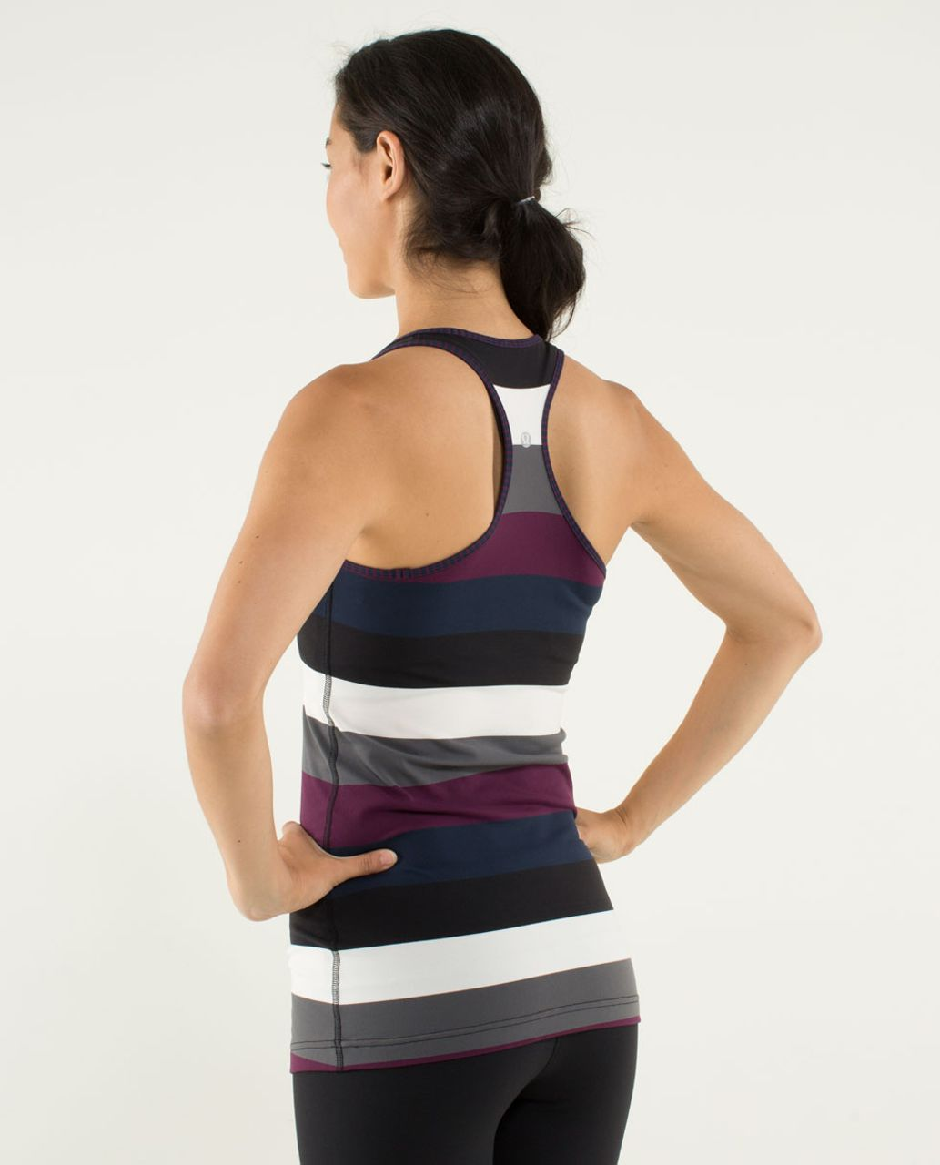 Lululemon Cool Racerback - Pow Stripe Angel Wing / Hyper Stripe Plum