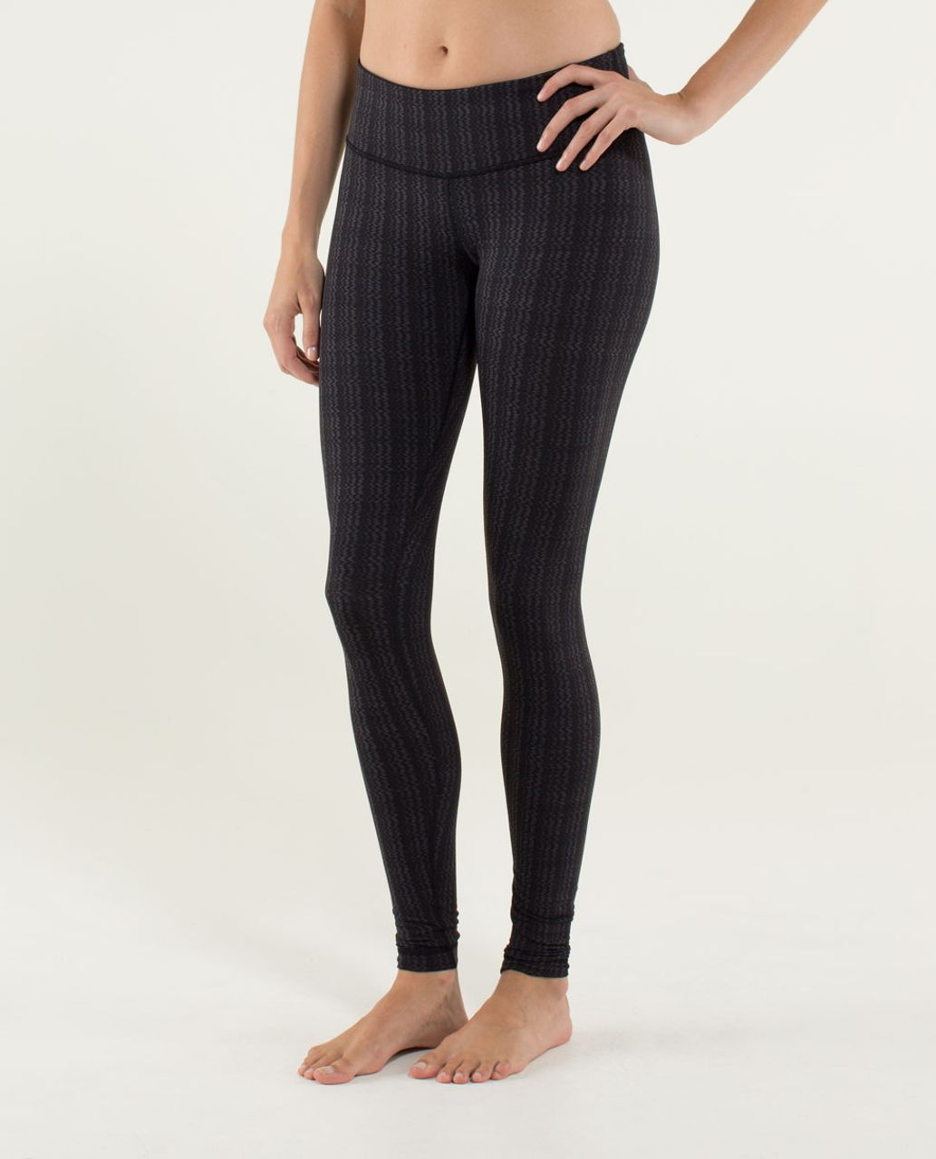 Lululemon Wunder Under Pant *Textured - Ziggy Wee September Black / Black
