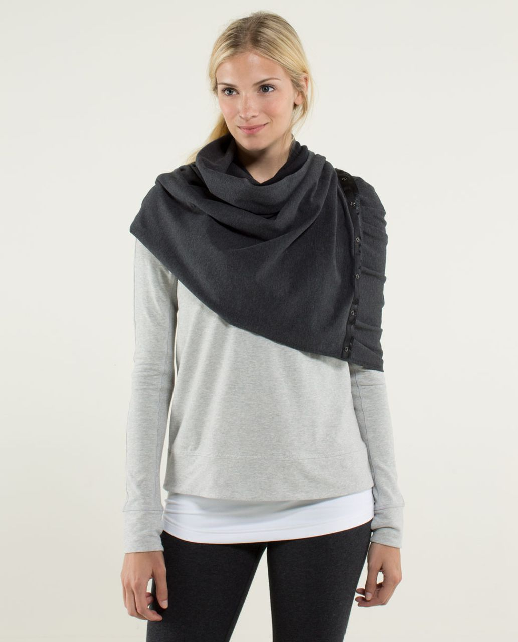 Lululemon Vinyasa Scarf *French Terry - Heathered Black