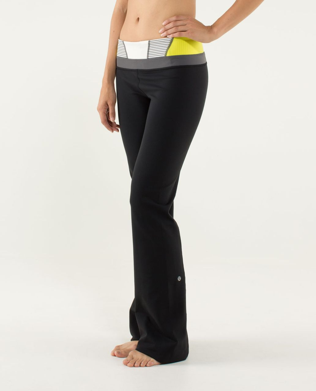 Lululemon Groove Pant (Tall) - Black / Quilt 07 Fall 2013