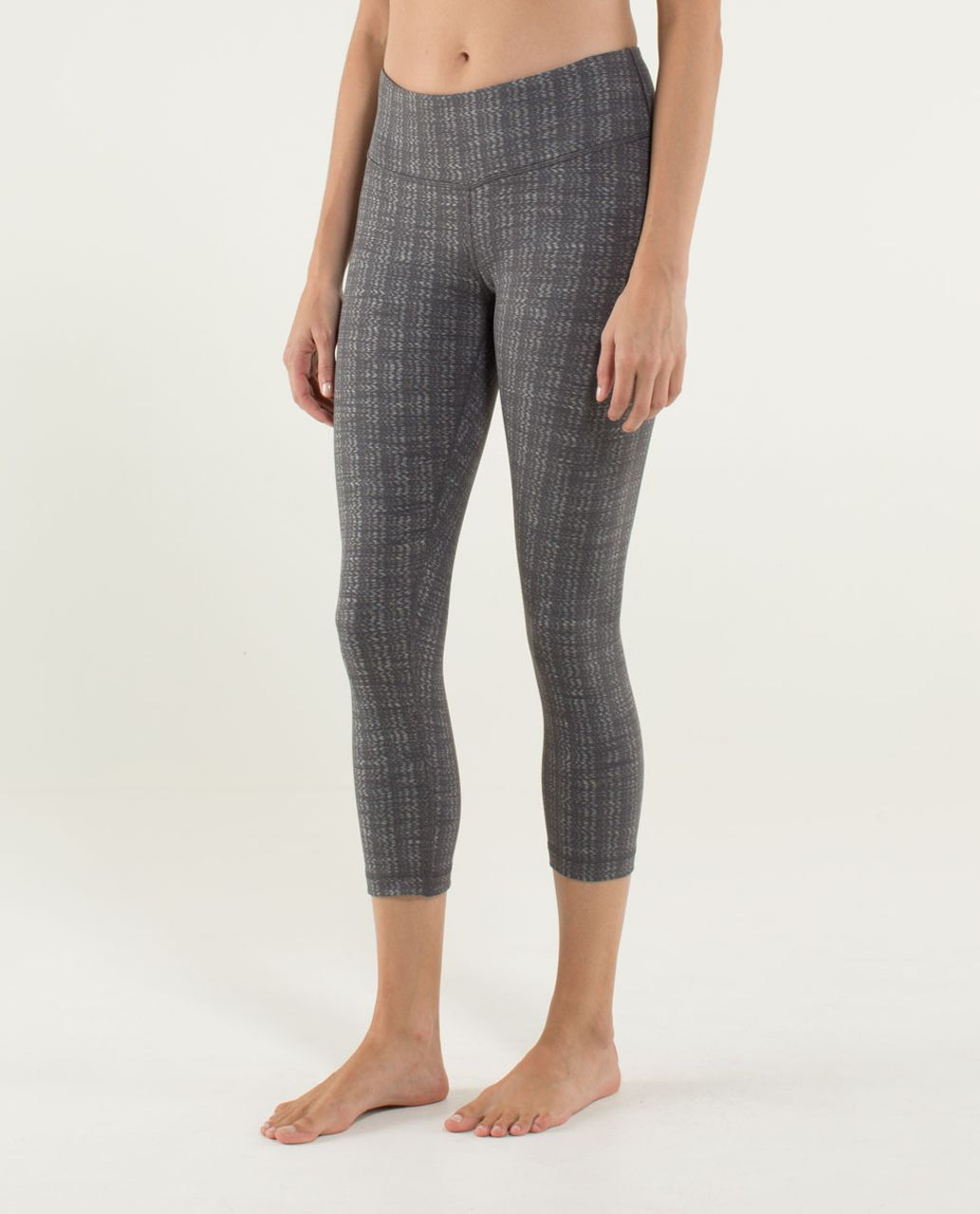 Lululemon Wunder Under Crop *Textured - Ziggy Wee October Angel Wing / Soot Light