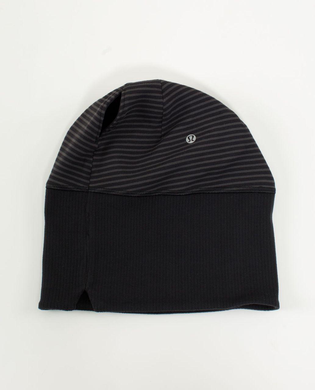 Lululemon Run With Me Toque - Mini Hyper Stripe Black / Black