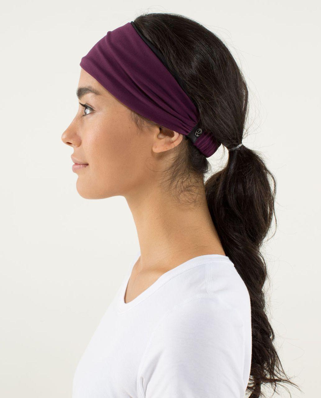 Lululemon Bang Buster Headband *Reversible - Plum / Black