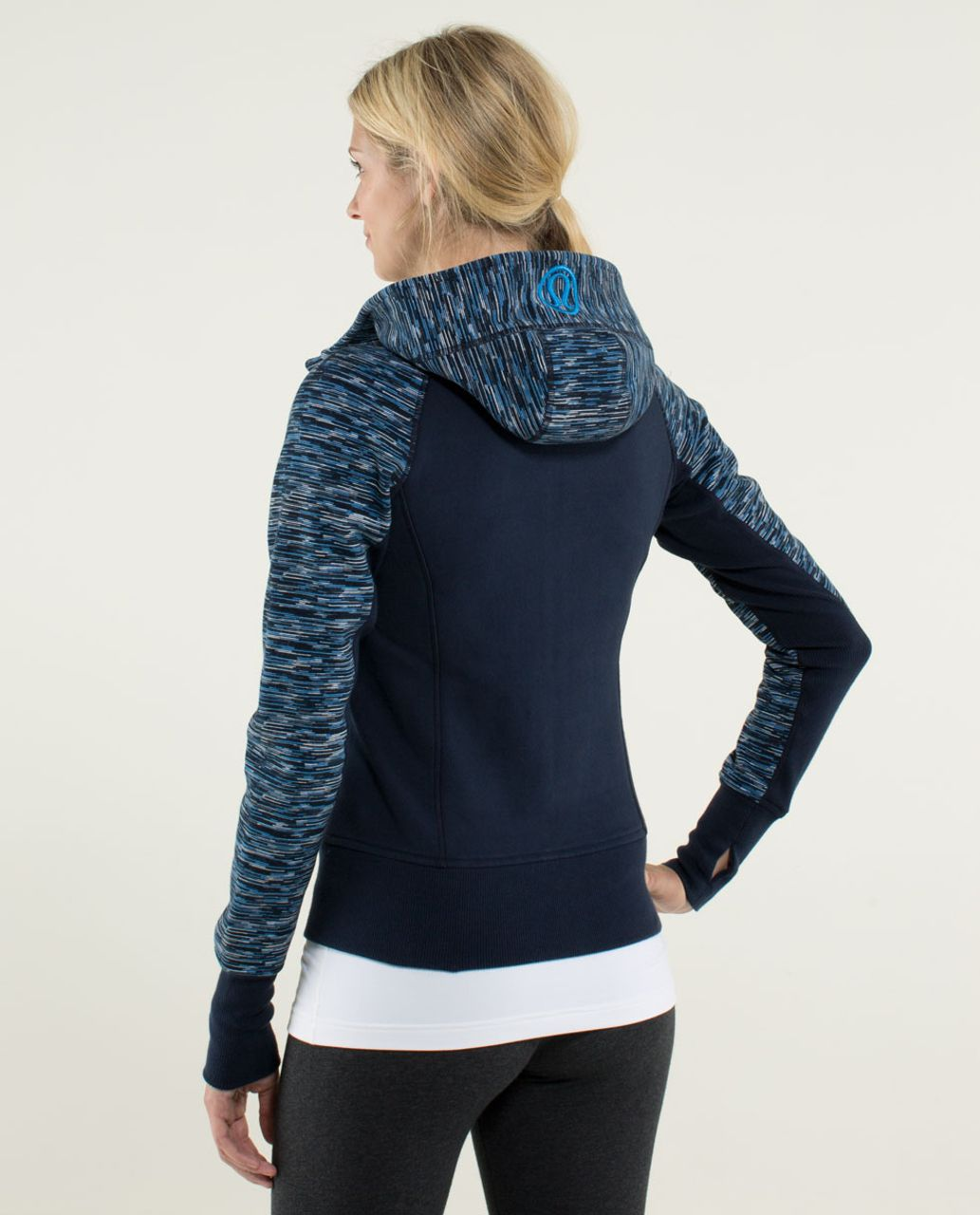 Lululemon Scuba Hoodie *Stretch (Lined Hood) - Inkwell / Wee Are From Space Printed October Inkwell