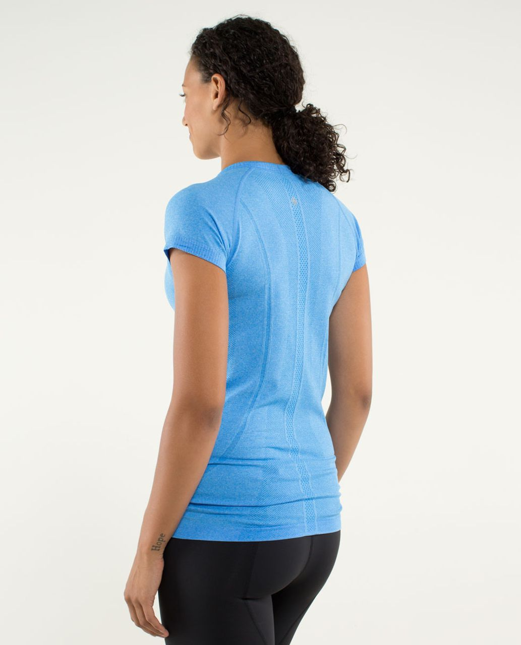 Lululemon Run:  Swiftly Tech Short Sleeve - Heathered Cornflower