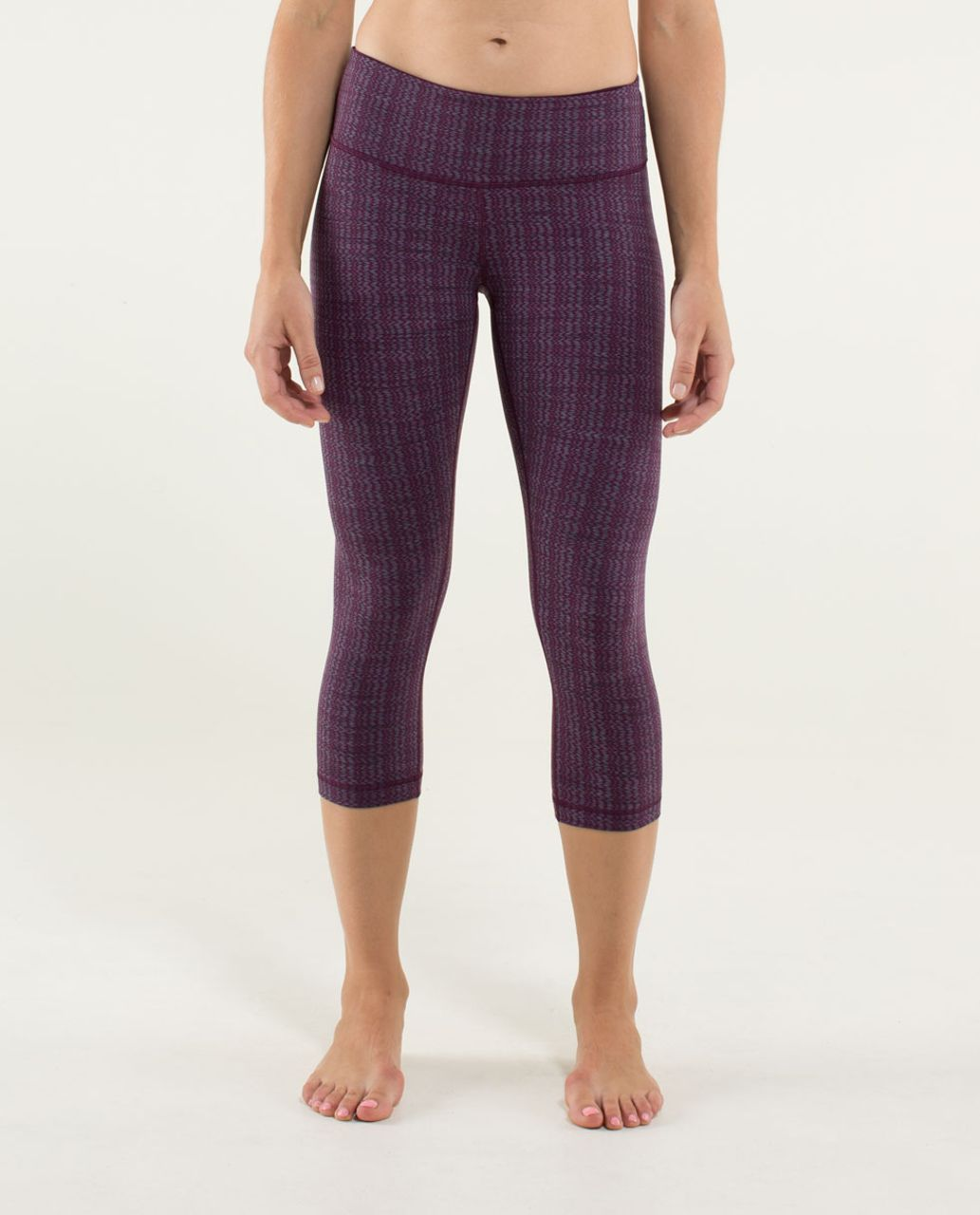 Lululemon Wunder Under Crop *Textured - Ziggy Wee September Plum