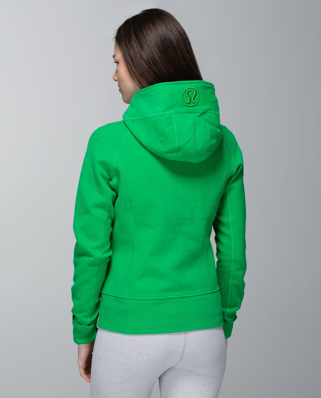 Lululemon Scuba Hoodie *Stretch (Lined Hood) - Green Bean / Hyper Stripe Printed Green Bean