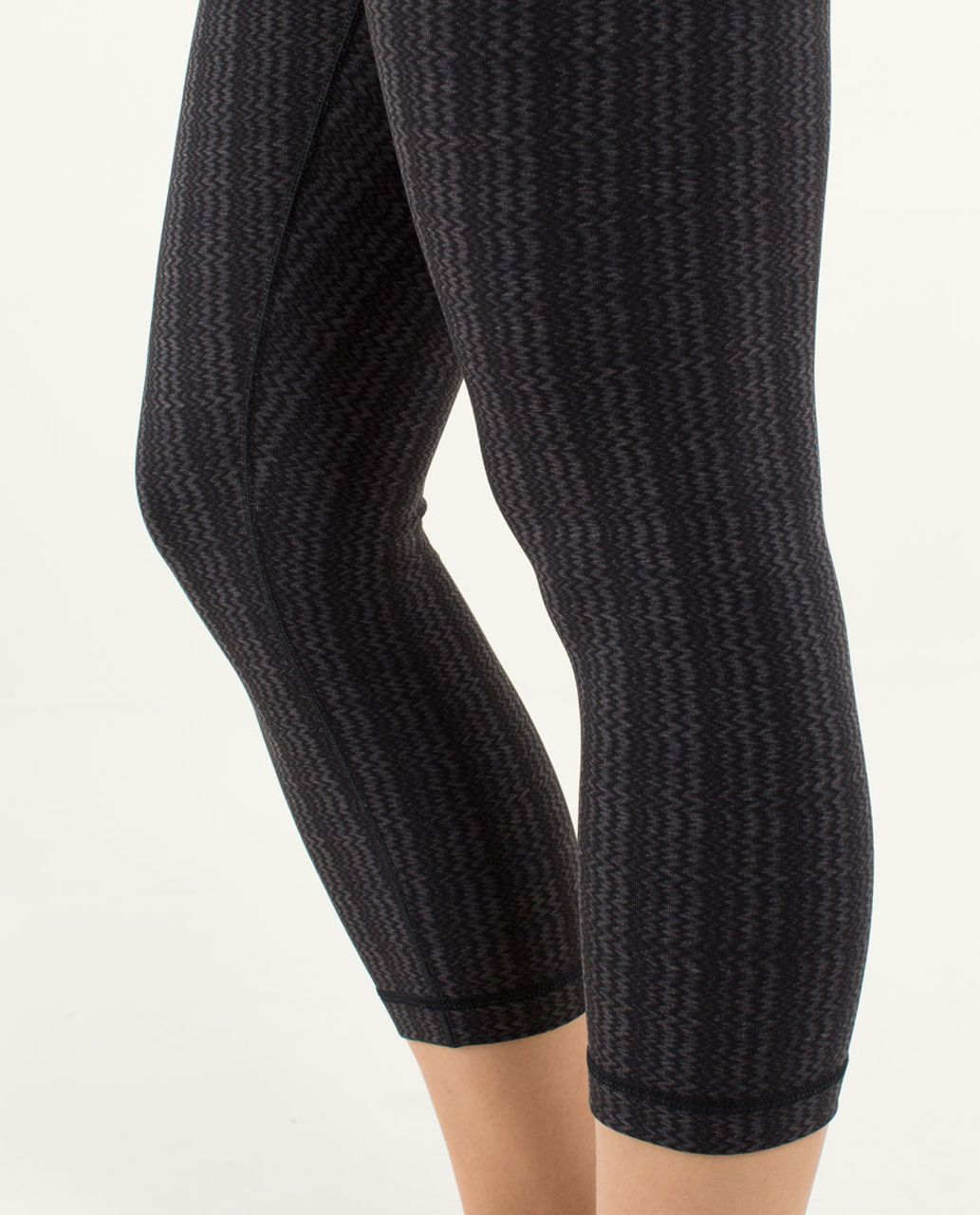 Lululemon Wunder Under Crop - Ziggy Wee September Black / Black