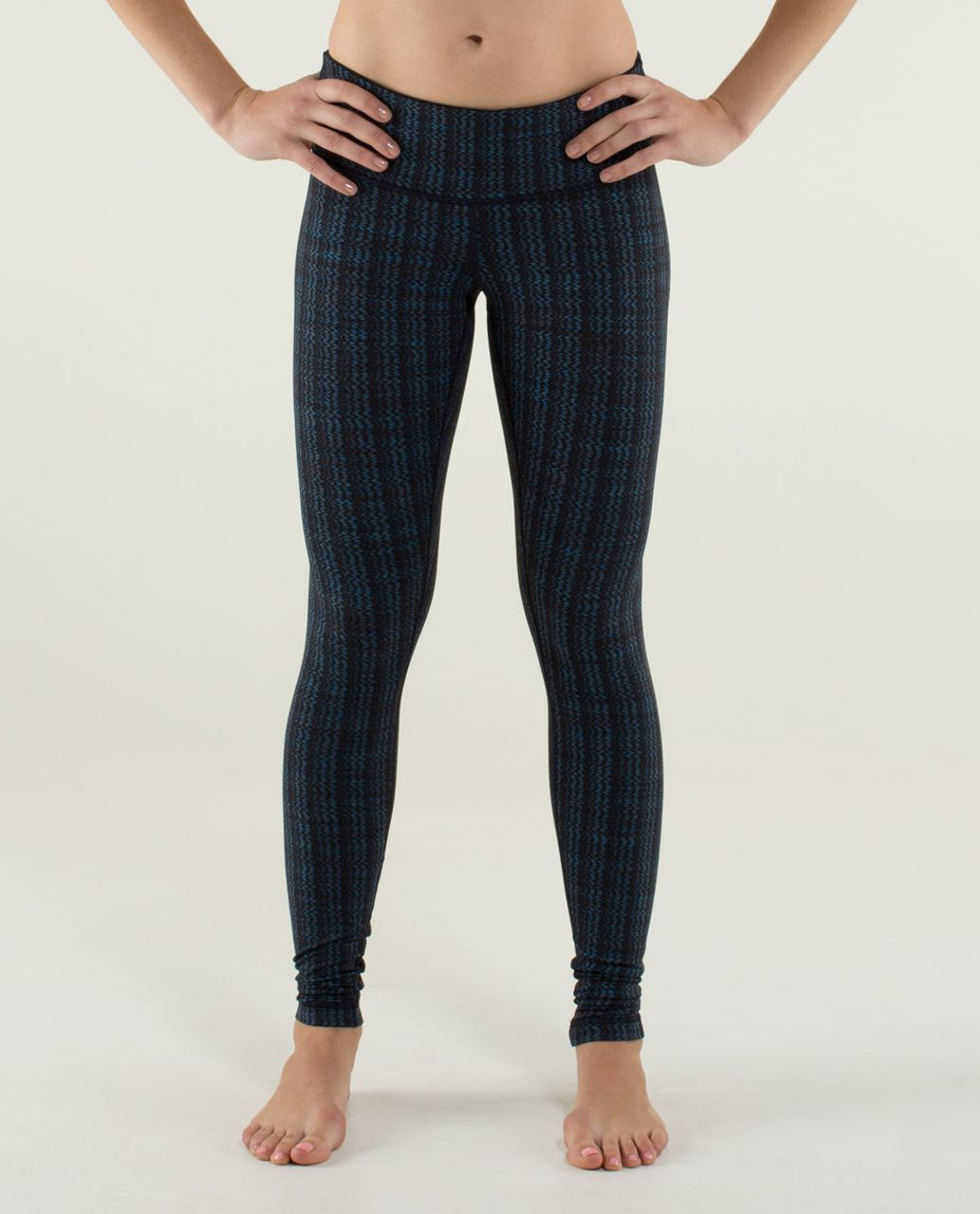 Lululemon Wunder Under Pant - Ziggy Wee October Inkwell / Black