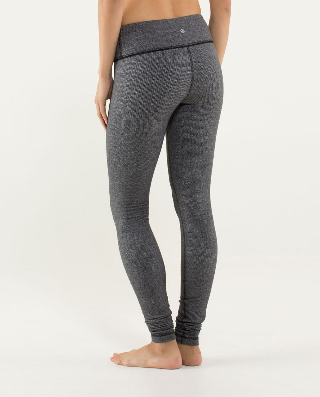 Lululemon Wunder Under Pant - Heathered Slate / Black
