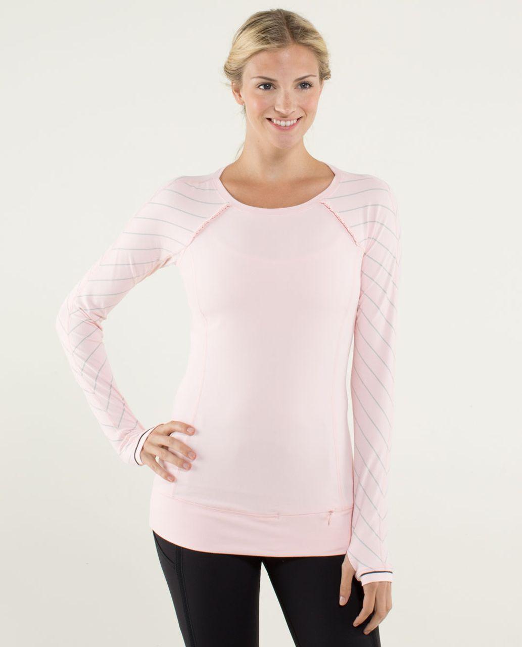 fefc77612d76b Lululemon Full Tilt Long Sleeve - Pretty Pink / Slalom Stripe Pretty Pink -  lulu fanatics