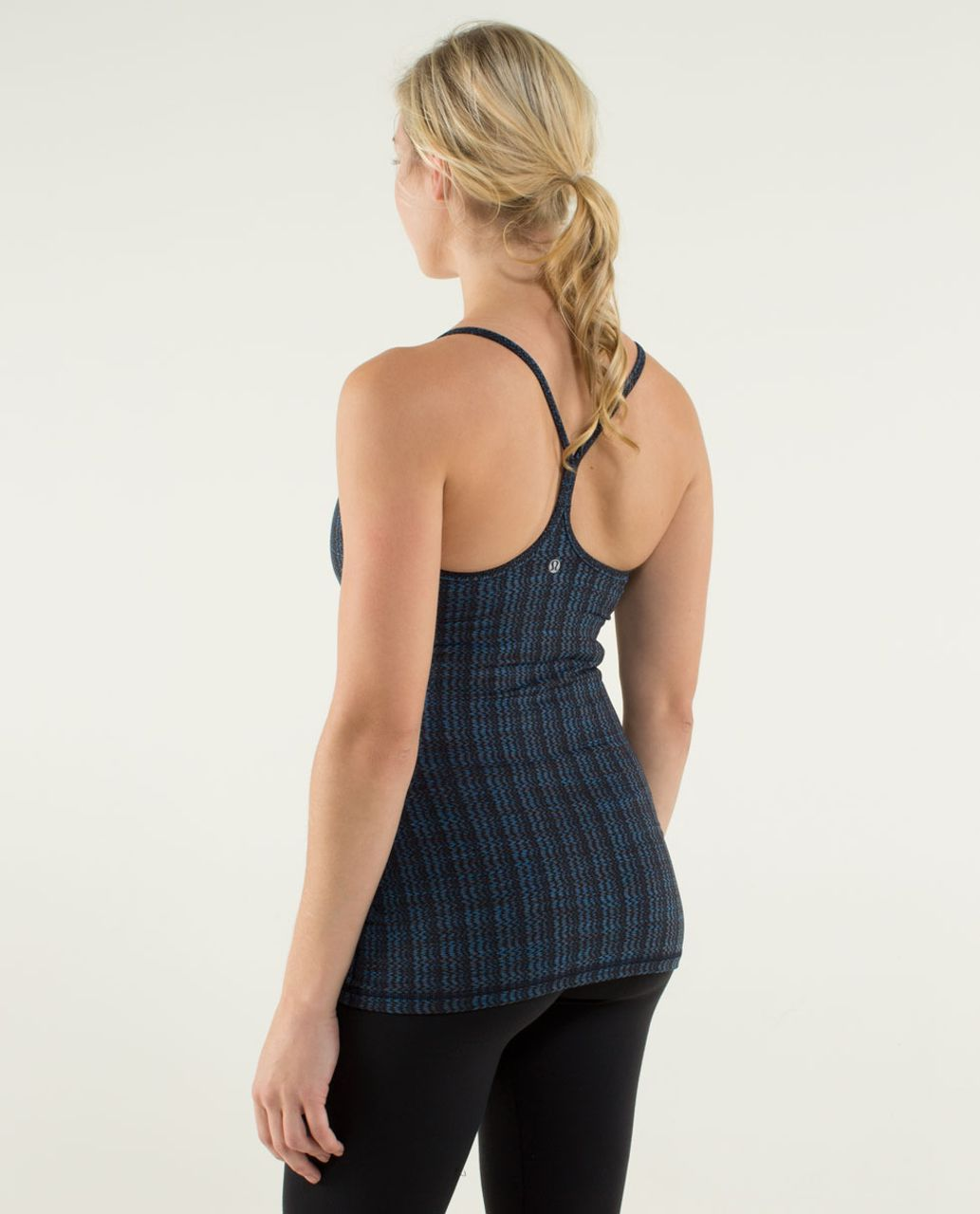 Lululemon Power Y Tank *Luon Light - Ziggy Wee October Inkwell / Inkwell