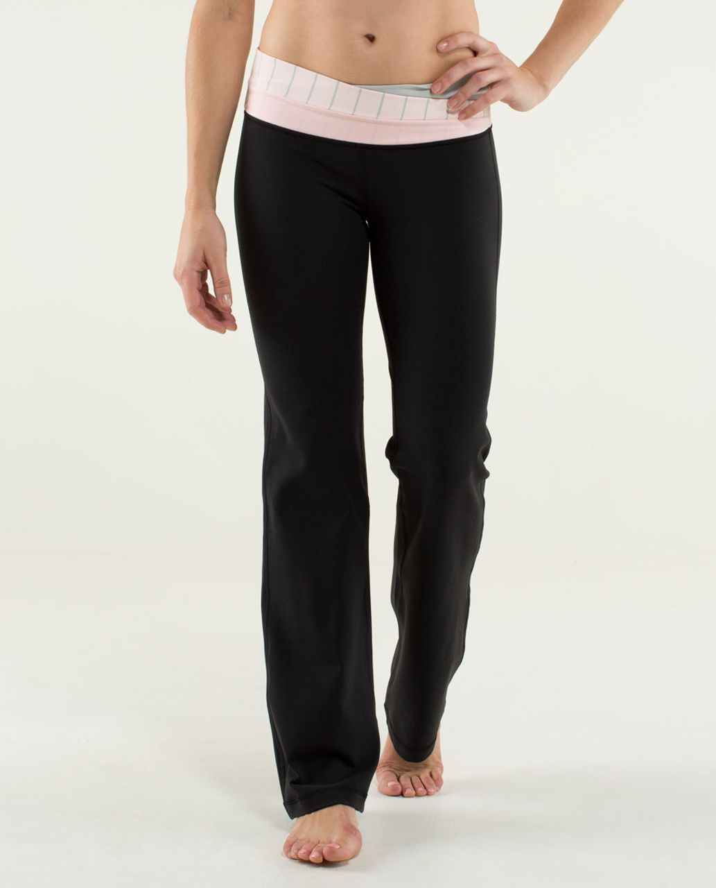 Lululemon Astro Pant (Tall) - Black / Silver Spoon / Slalom Stripe Pretty Pink