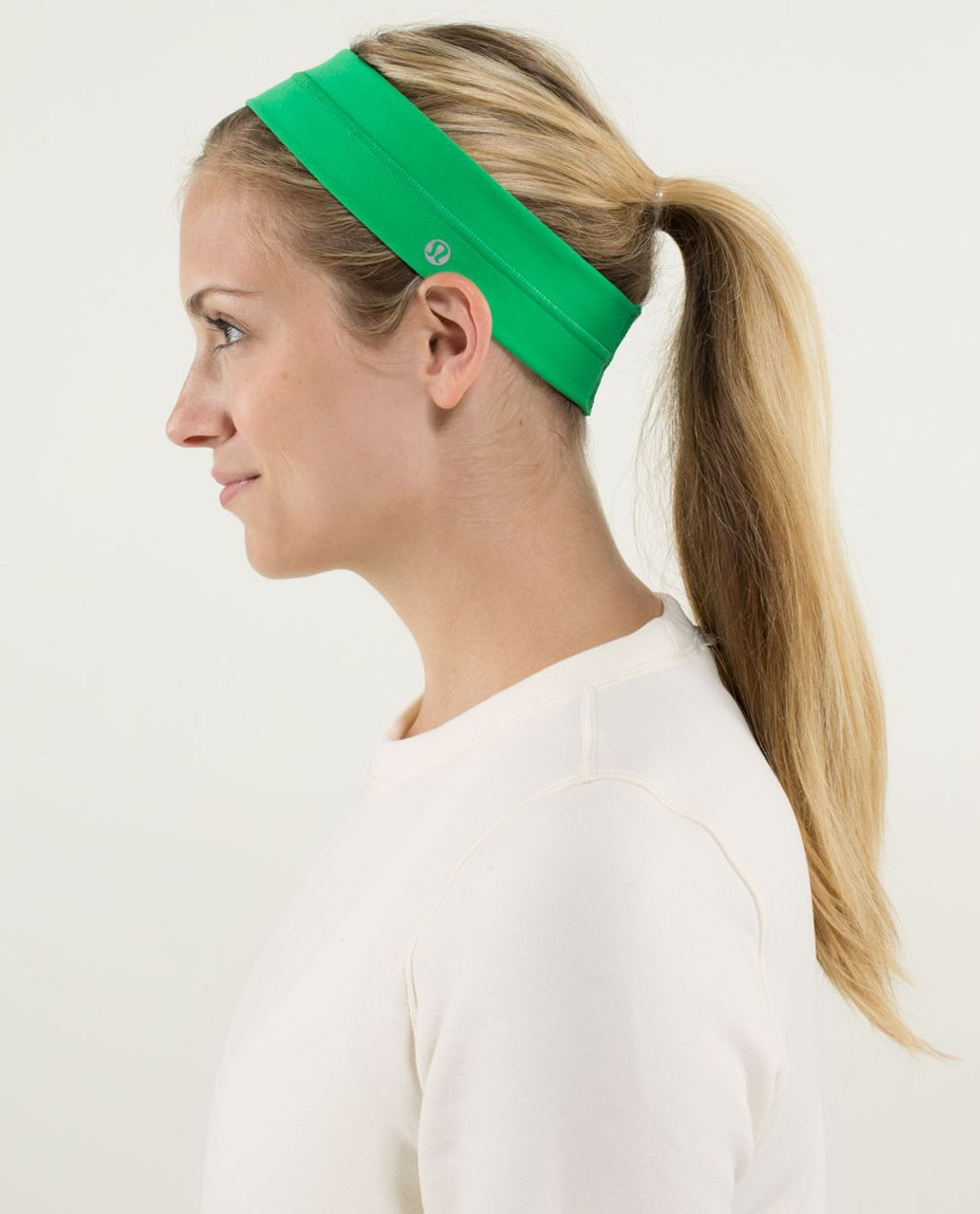 Lululemon Fly Away Tamer Headband - Green Bean