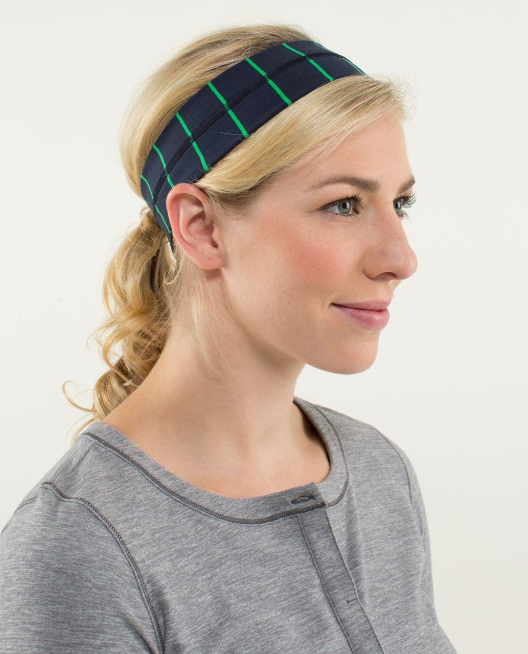 Lululemon Fly Away Tamer Headband - Slalom Stripe Inkwell