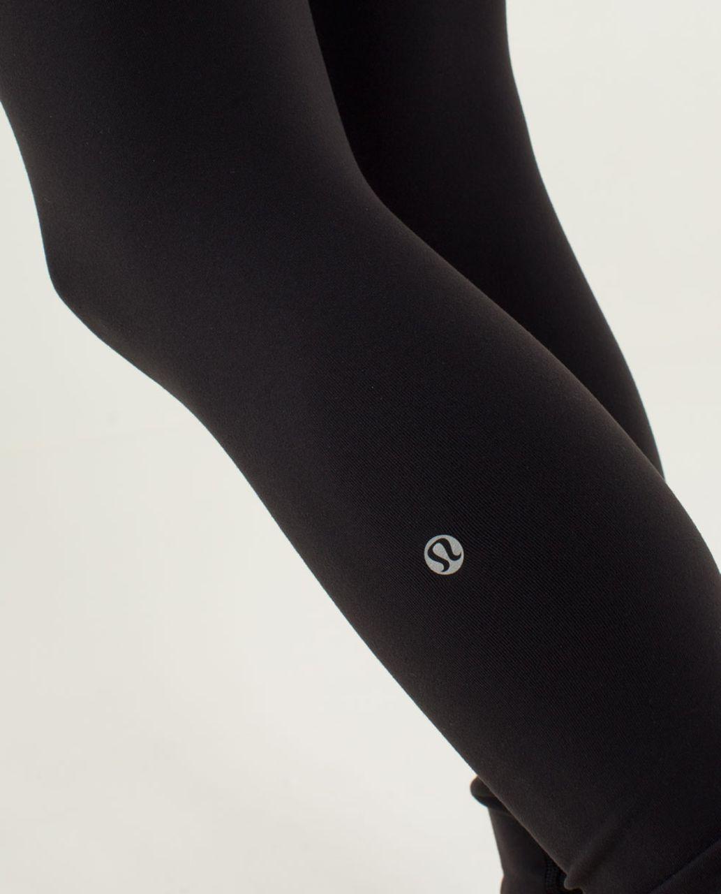 Lululemon Wunder Under Pant - Black / Quilt 20 Fall 2013