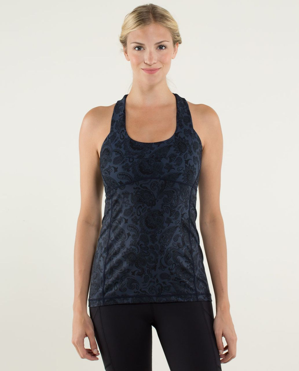 Lululemon Scoop Neck Tank *Luon Light - Paisley Inkwell / Inkwell