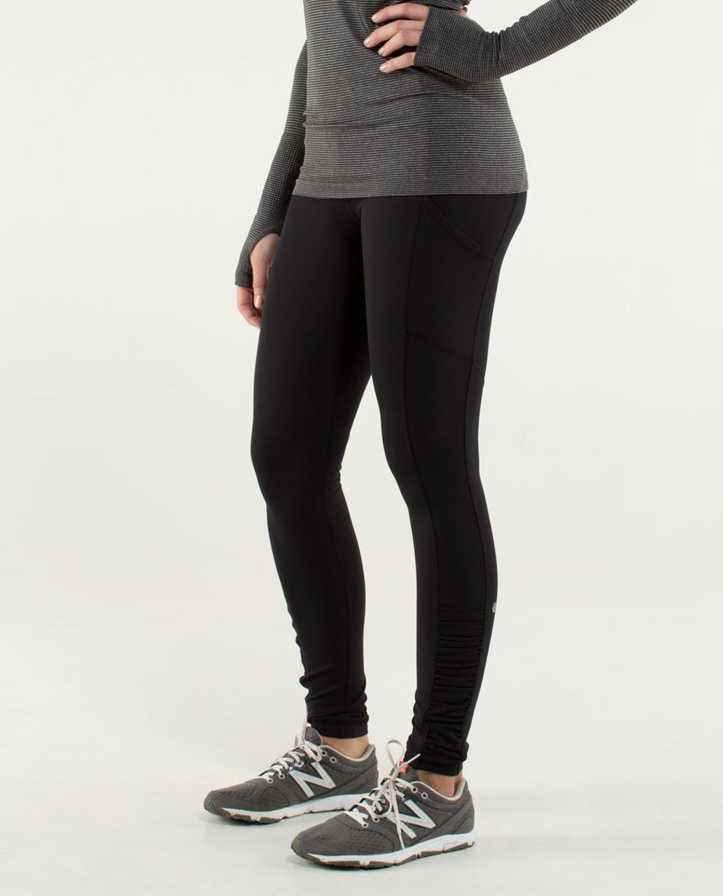 Lululemon Speed Tight *Cozy - Black / Slalom Stripe Pretty Pink