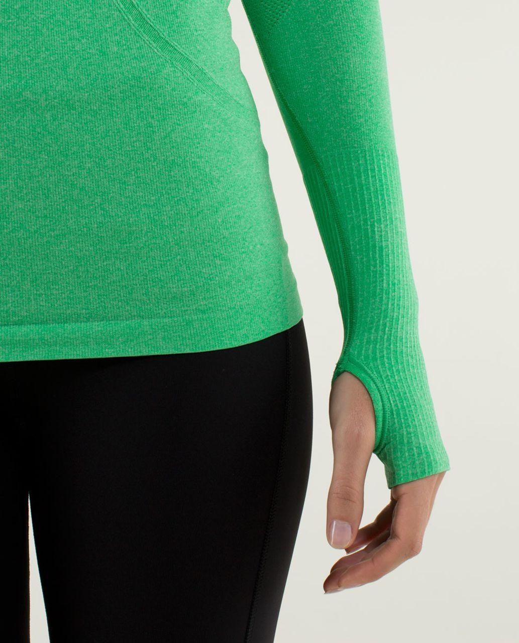 Lululemon Run:  Swiftly Tech Long Sleeve - Heathered Green Bean