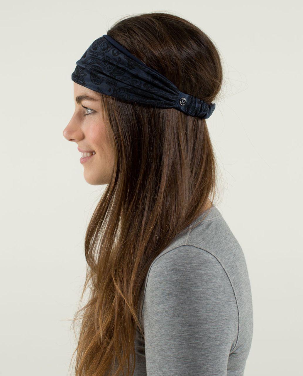 Lululemon Bang Buster Headband *Reversible - Paisley Inkwell / Inkwell
