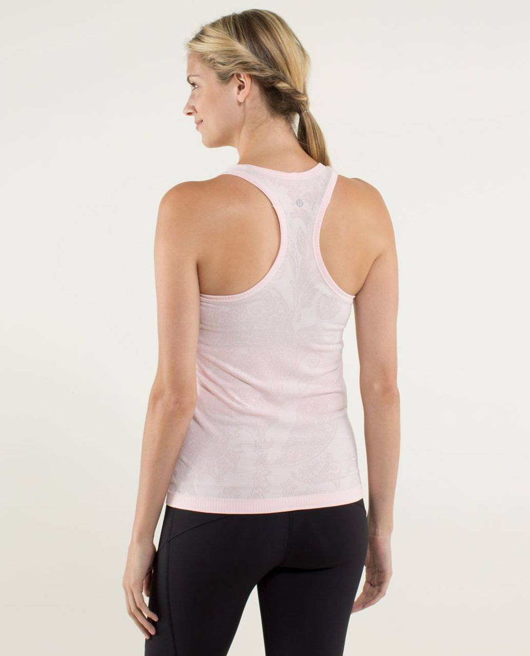 Lululemon Run:  Swiftly Tech Racerback *Paisley - Heathered Pretty Pink