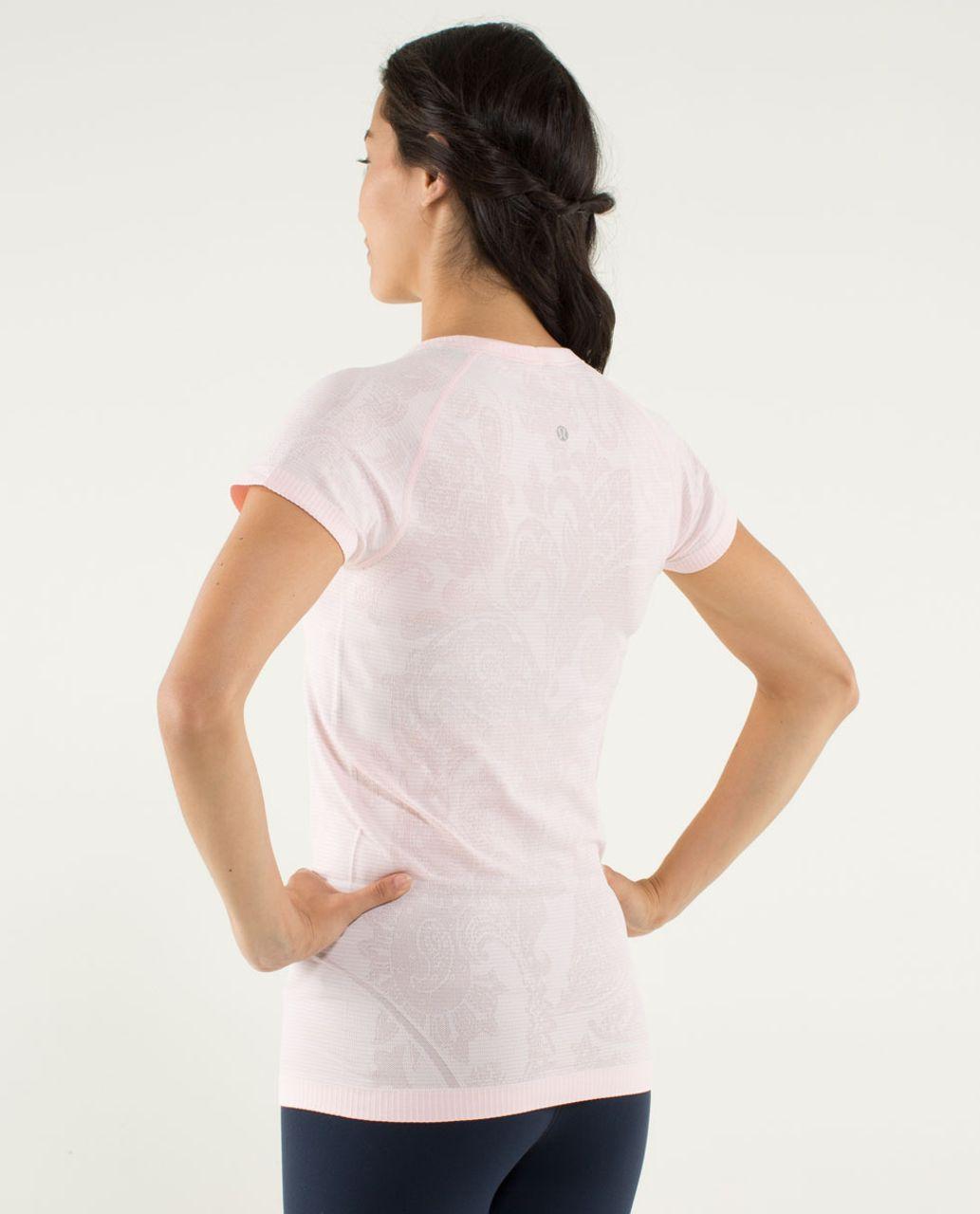 Lululemon Run:  Swiftly Tech Short Sleeve *Paisley - Heathered Pretty Pink