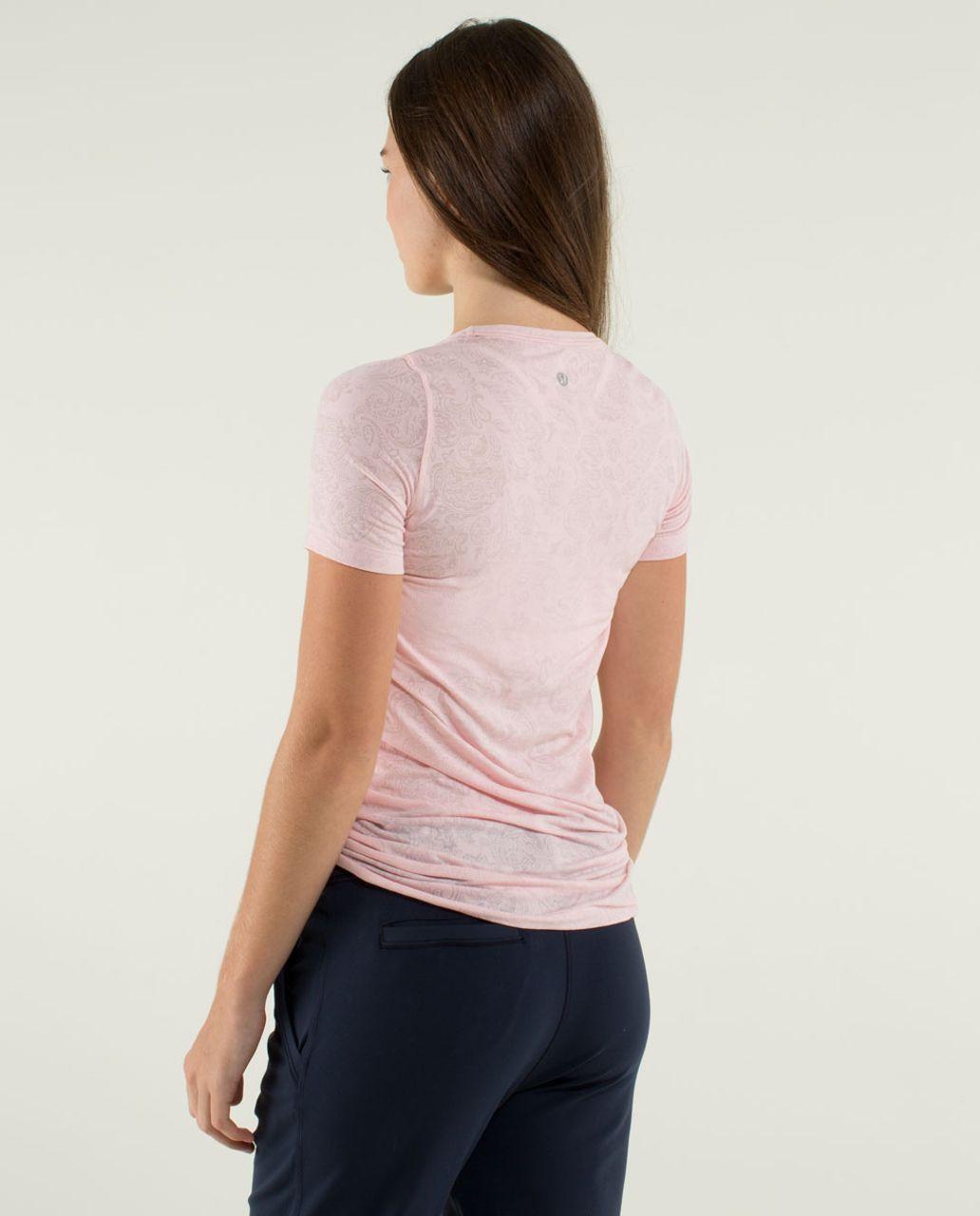 Lululemon Karmady Short Sleeve - Paisley Burnout Pretty Pink