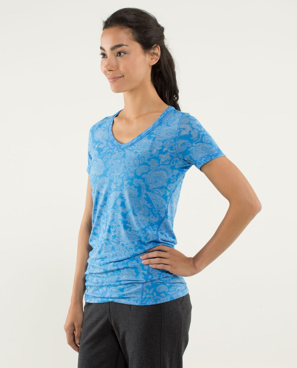 Lululemon Karmady Short Sleeve - Paisley Burnout Cornflower