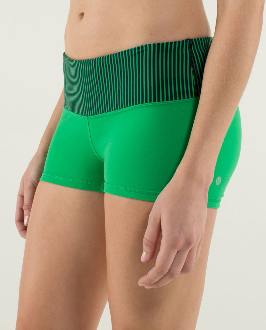 Lululemon Boogie Short - Green Bean / Hyper Stripe Green Bean
