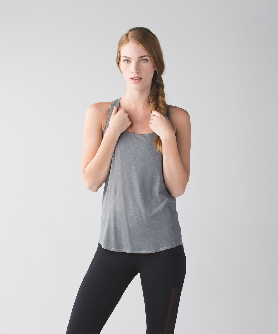 Lululemon Wild Tank - Heathered Slate / Tofino Scribble White Multi