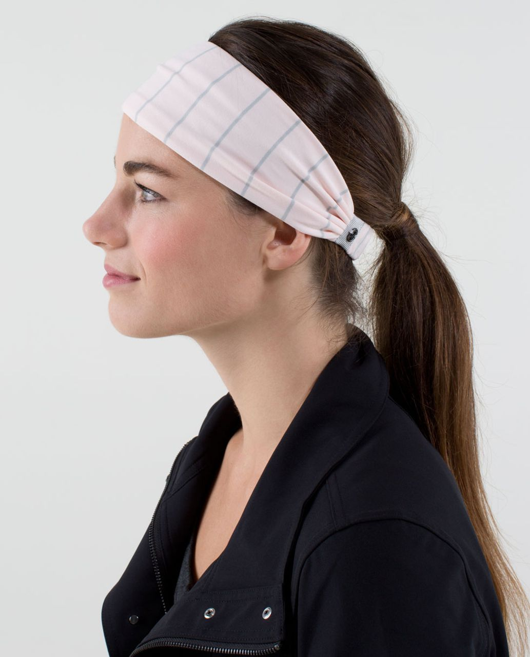 Lululemon Bang Buster Headband *Reversible - Slalom Stripe Pretty Pink / Pretty Pink