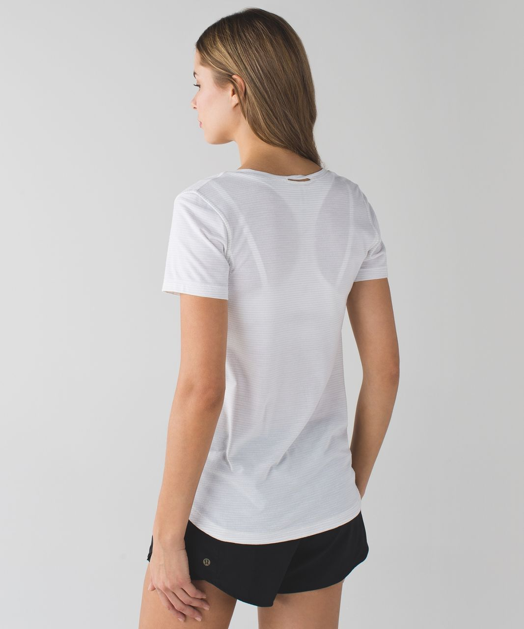 Lululemon What The Sport Tee - Heathered White