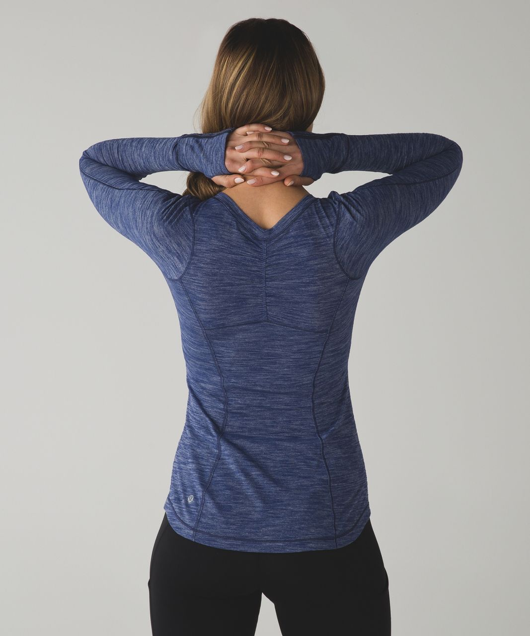 Lululemon 5 Mile Long Sleeve - Heathered Hero Blue