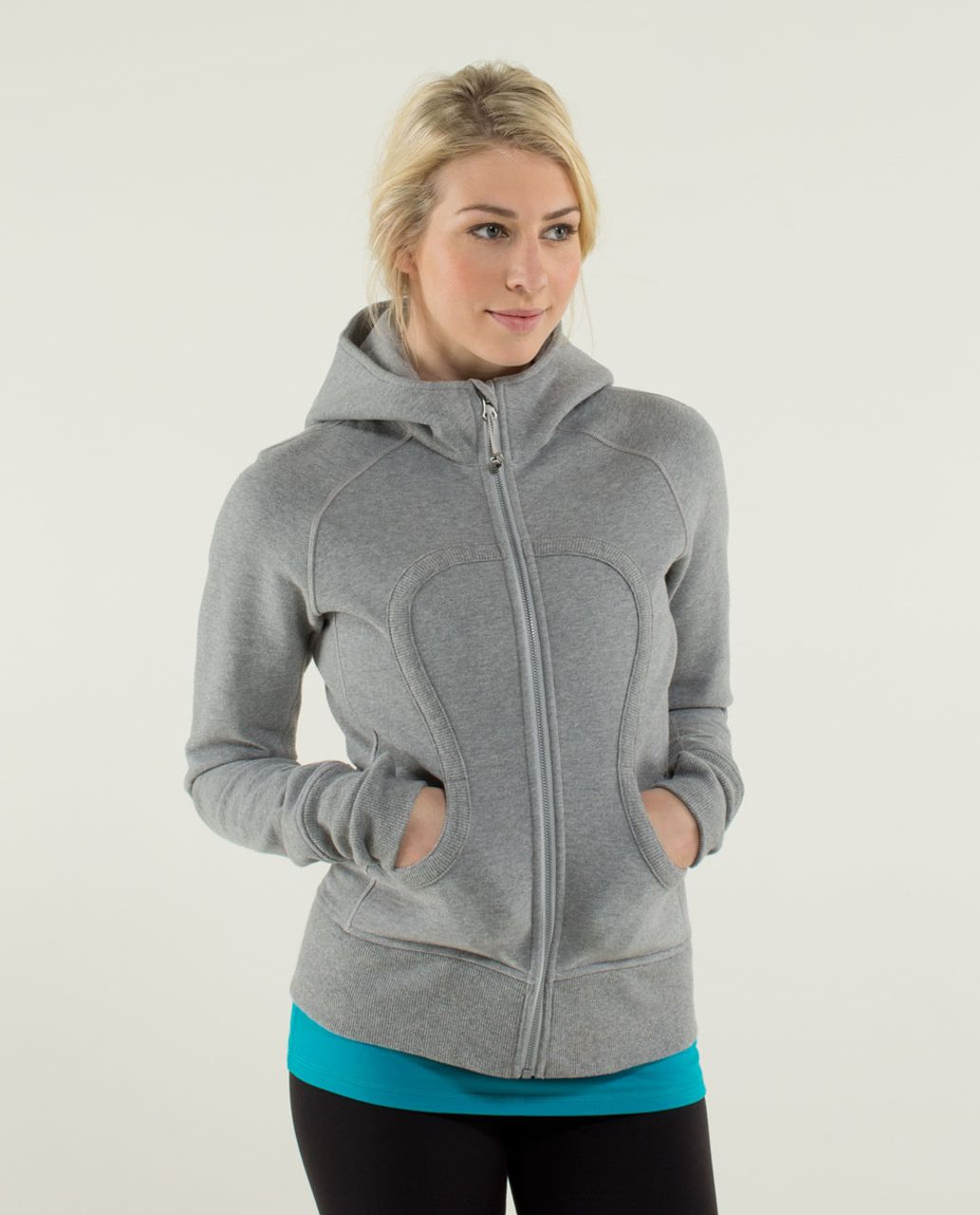 buy online look out for great deals on fashion Lululemon Scuba Hoodie *Stretch (Lined Hood) - Heathered Medium Grey /  Silver Spoon / Heathered Medium Grey