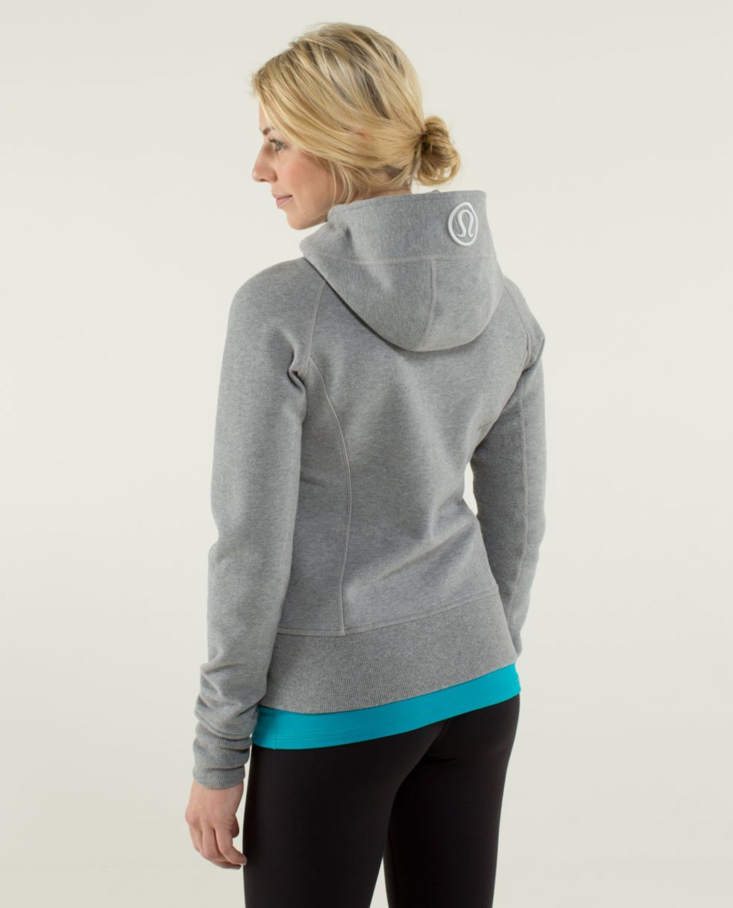 Lululemon Scuba Hoodie *Stretch (Lined Hood) - Heathered Medium Grey / Silver Spoon / Heathered Medium Grey